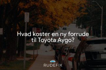 Hvad koster en ny forrude til Toyota Aygo