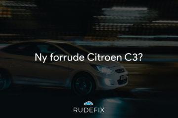 Ny forrude Citroen C3