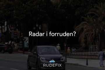Radar i forruden - forrude udstyr